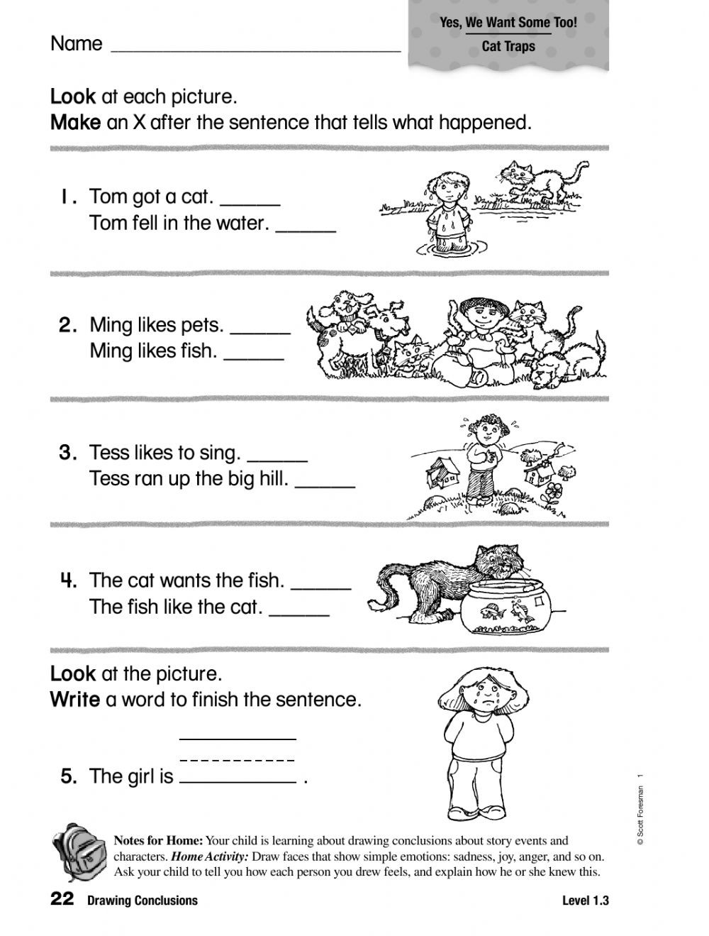 Drawing Conclusion Worksheets 3rd Grade Grade E Math Activities Name Tracer Worksheets Printables