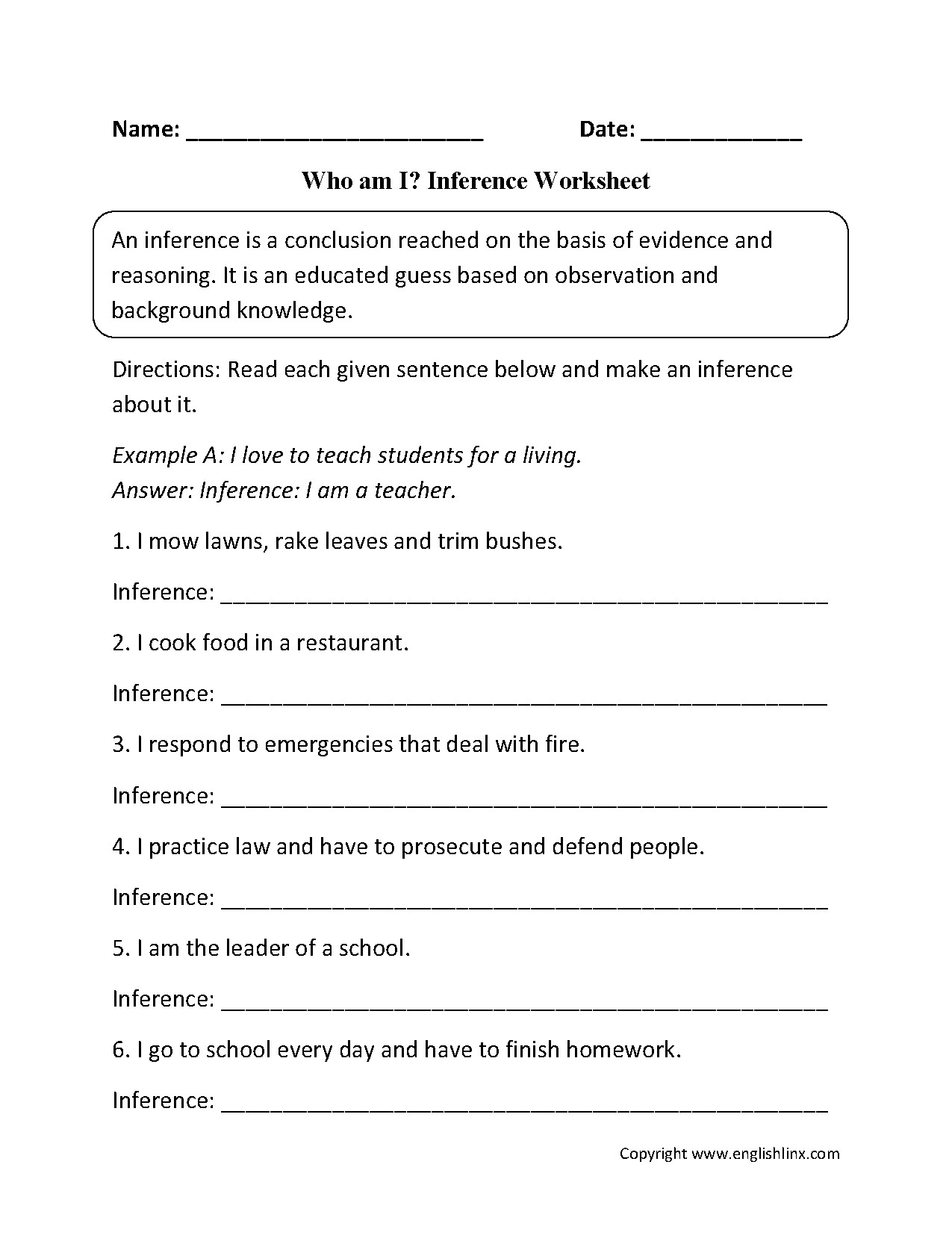 Drawing Conclusion Worksheets 3rd Grade New Inferences Worksheet High School