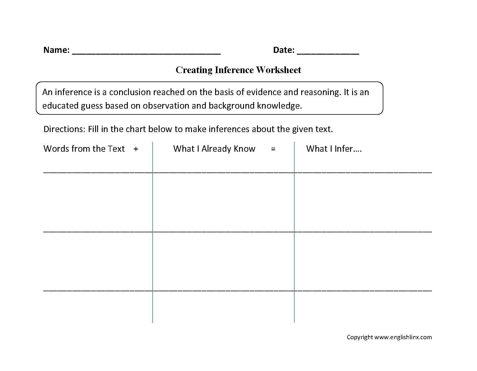 Drawing Conclusion Worksheets 3rd Grade Pin On Examples Grade Stu S Worksheets
