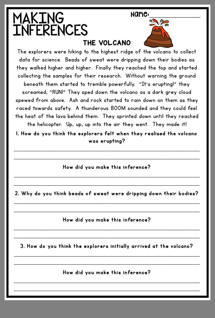 Drawing Conclusions Worksheets 2nd Grade Pin by Stephanie Pugh On Inference