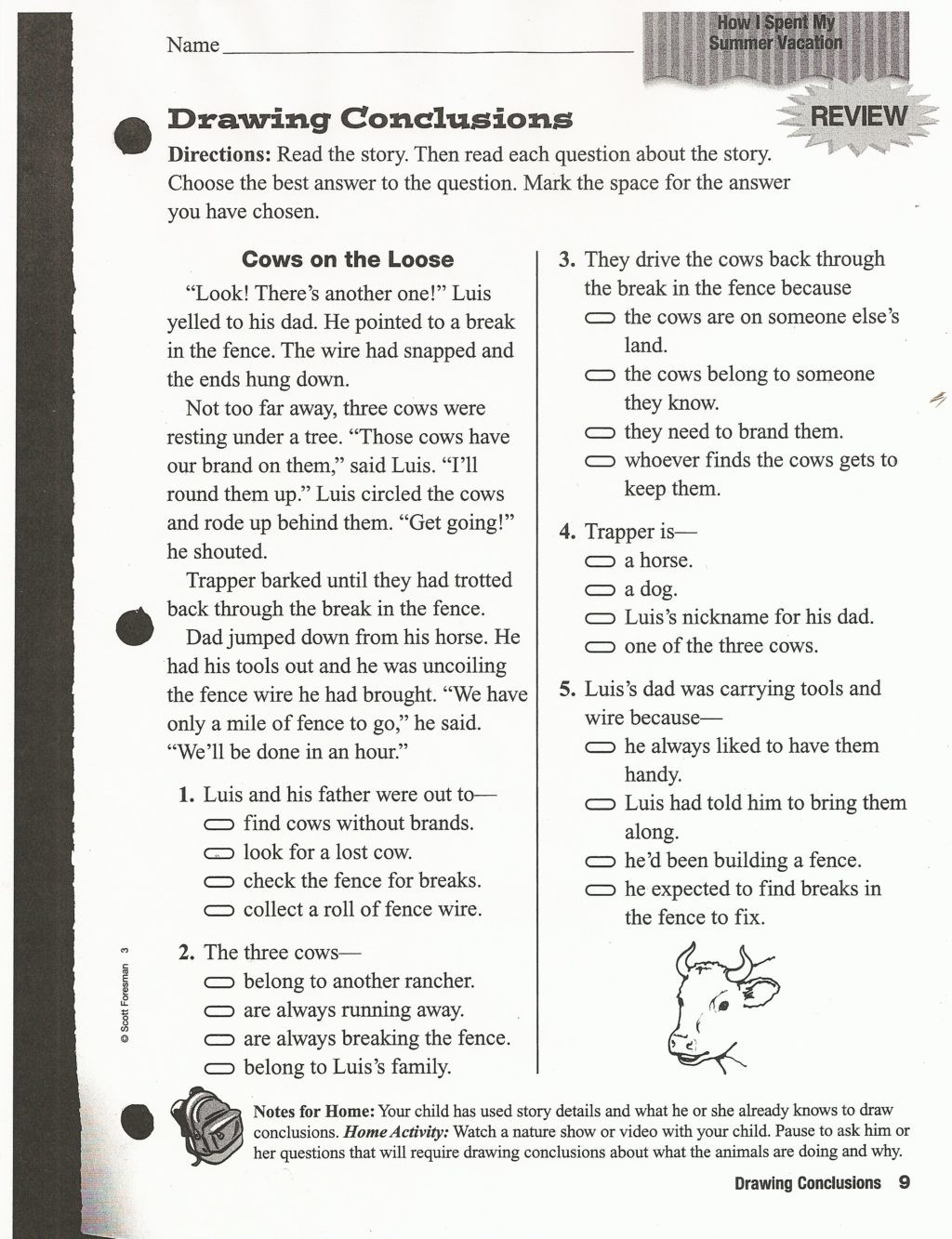 Drawing Conclusions Worksheets 4th Grade Worksheet Outstanding Third Grade Reading Worksheets