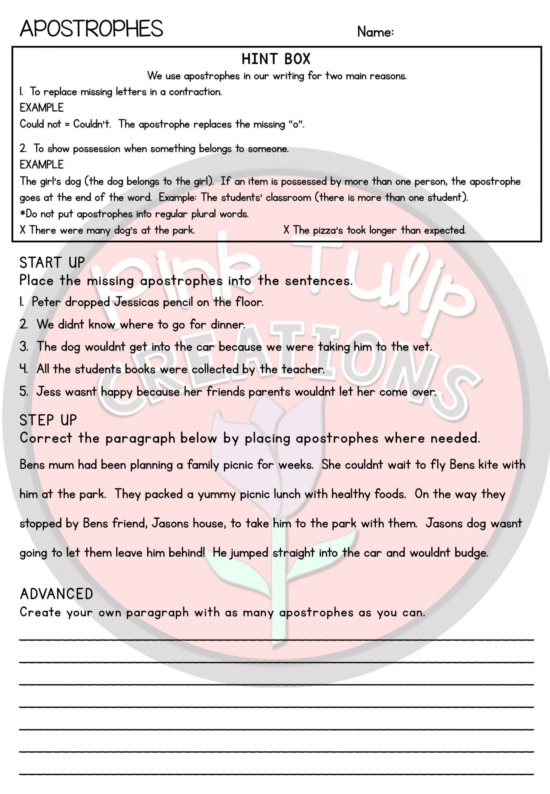 Drawing Conclusions Worksheets 5th Grade Grammar Worksheet