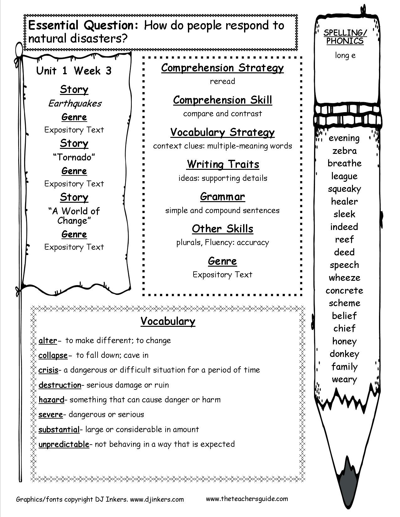 Ecosystem Worksheets 4th Grade Mcgraw Hill Wonders Fourth Grade Resources and Printouts