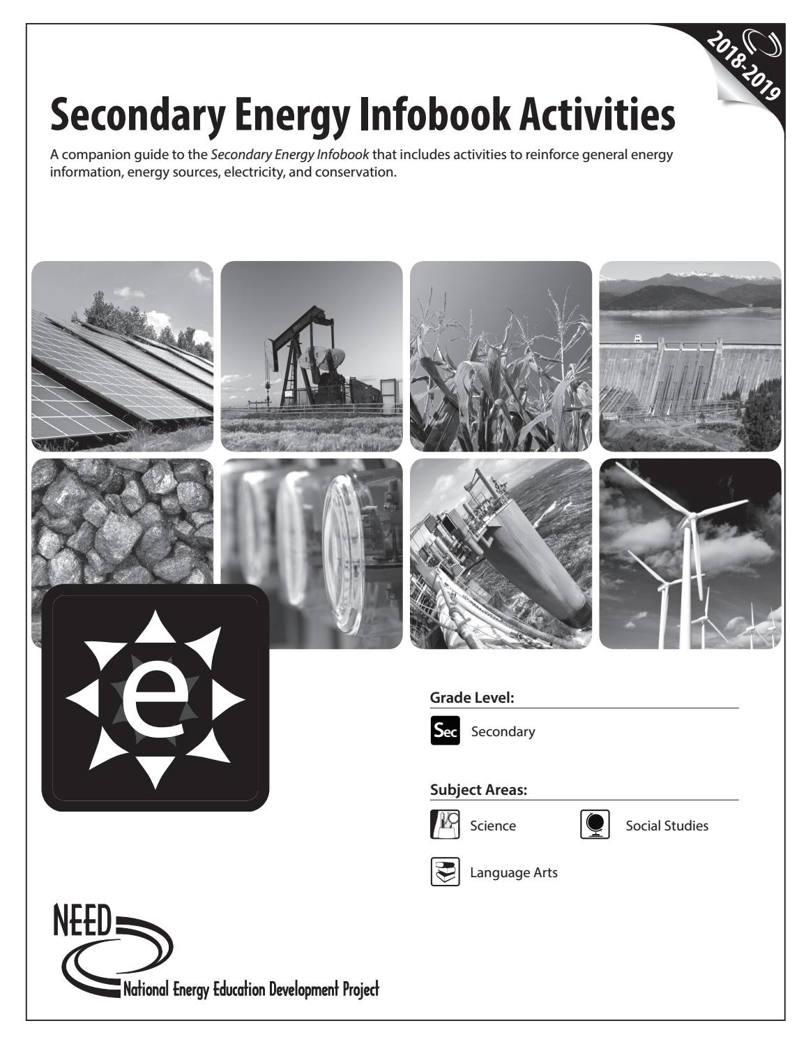 Electricity Worksheets for Middle School Secondary Energy Activities Infobook by Need Project issuu