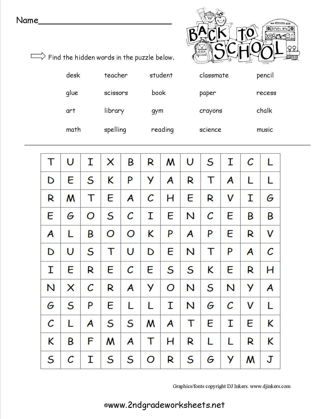End Of School Worksheets End the School Year Worksheets for 2nd Grade
