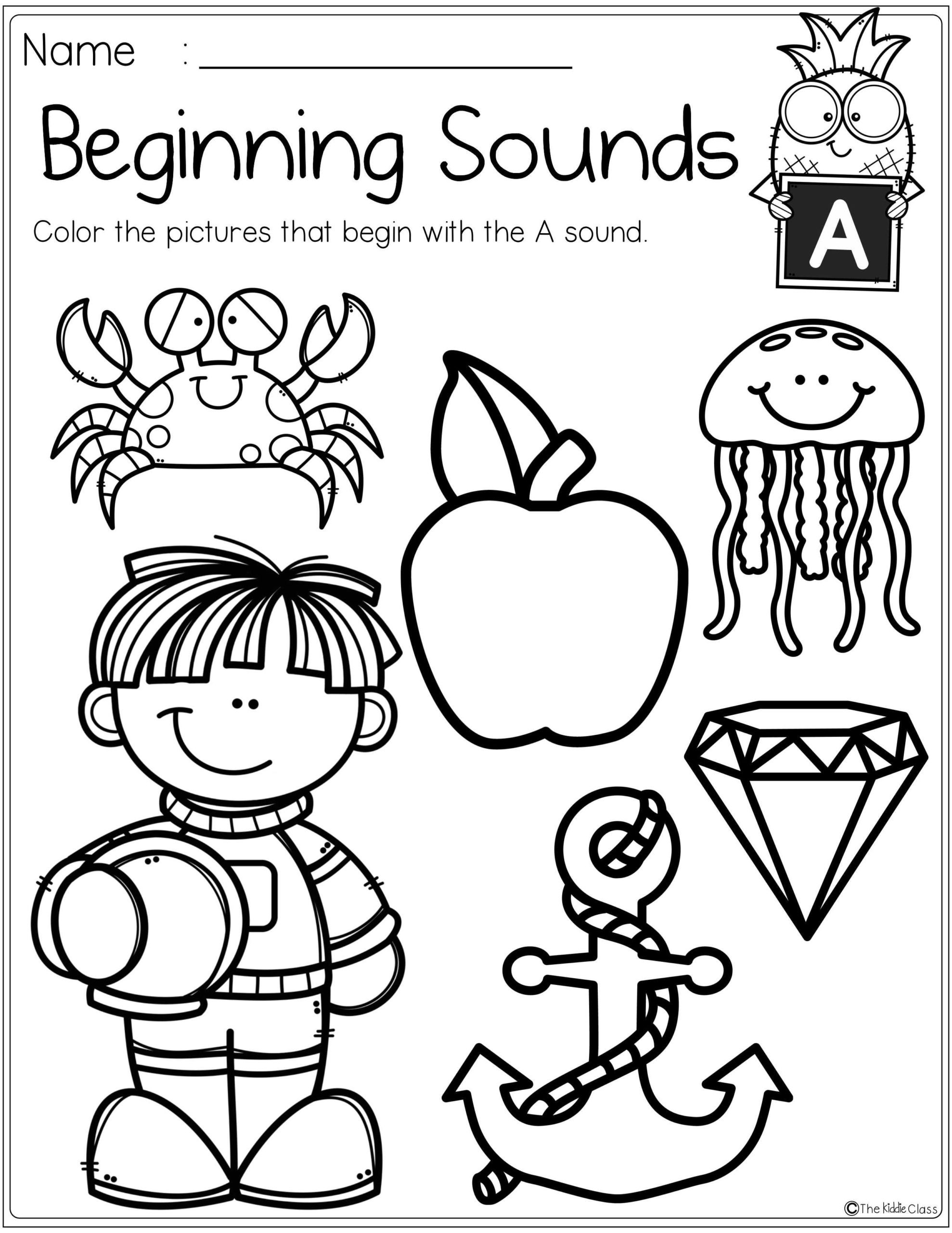 End Of School Worksheets Free Alphabet Beginning sounds Printables End School