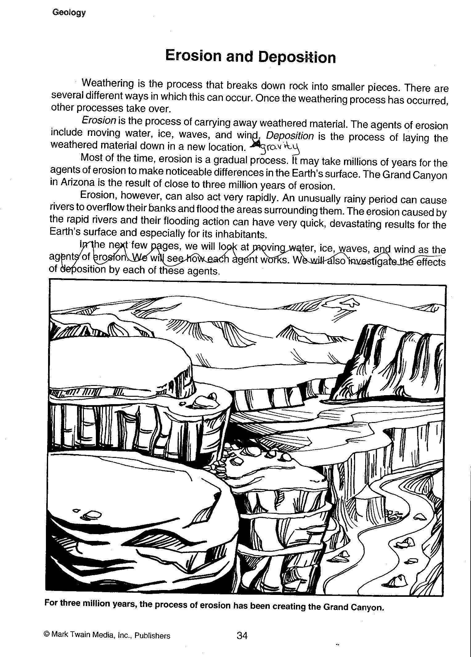 Erosion Worksheets 4th Grade 28 [ Weathering Erosion and Deposition Worksheet