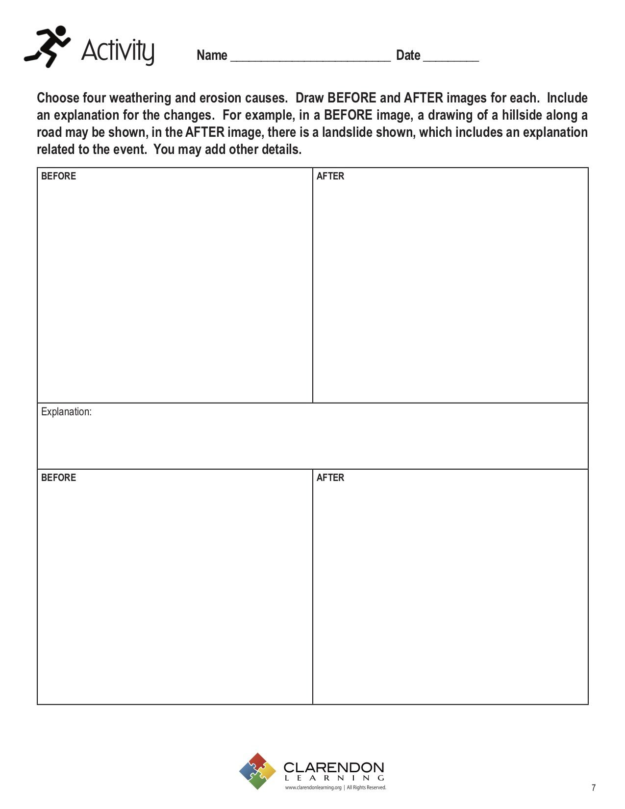 Erosion Worksheets 4th Grade Weathering and Erosion