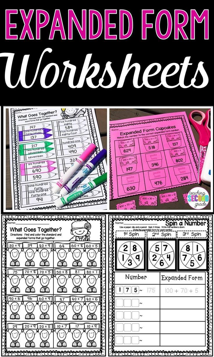 Expanded form Worksheets 2nd Grade Expanded form