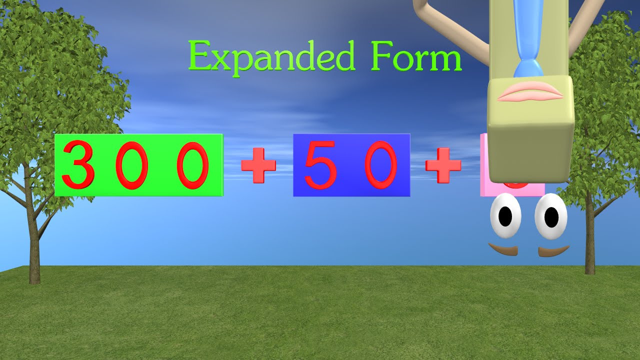 Expanded form Worksheets 2nd Grade Expanded form Video 1st and 2nd Grade Math