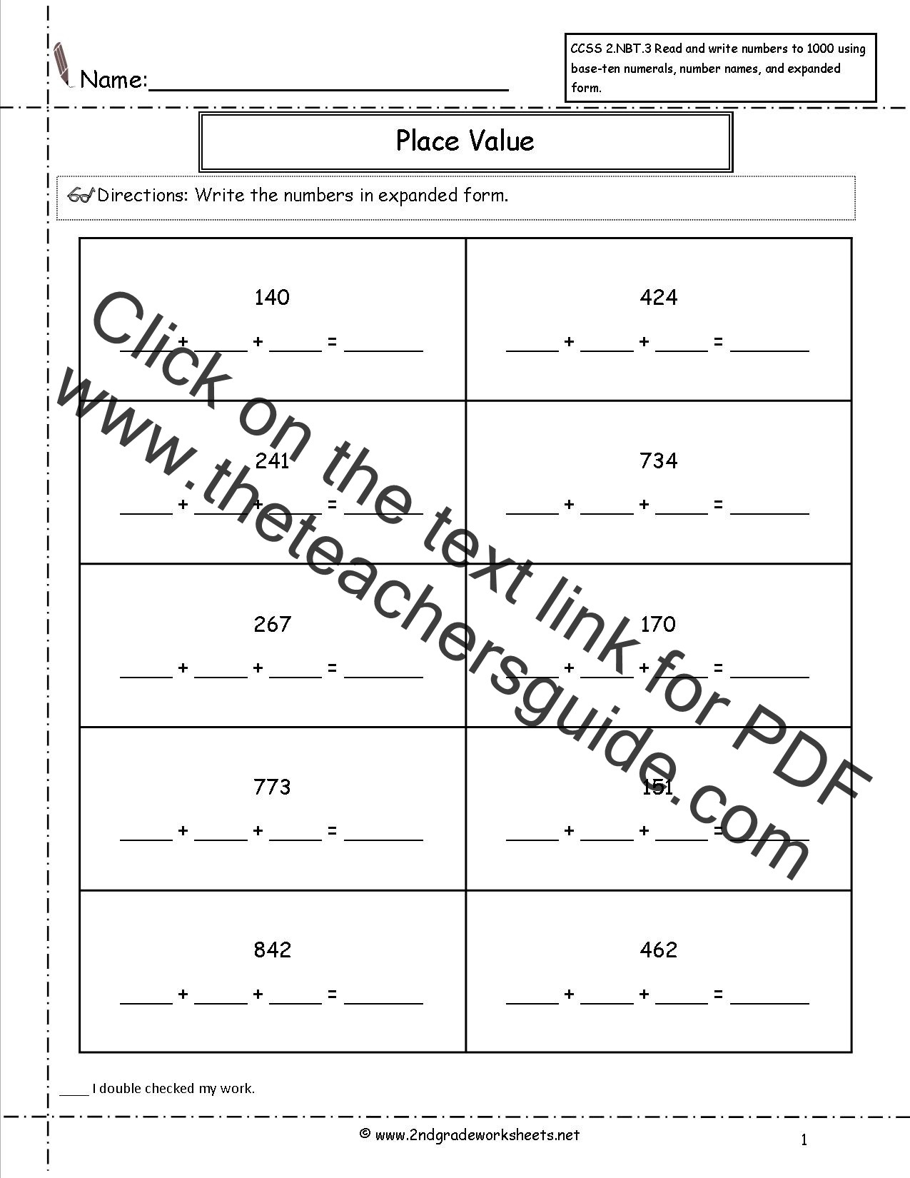 Expanded form Worksheets 3rd Grade 2nd Grade Math Expanded form Worksheets