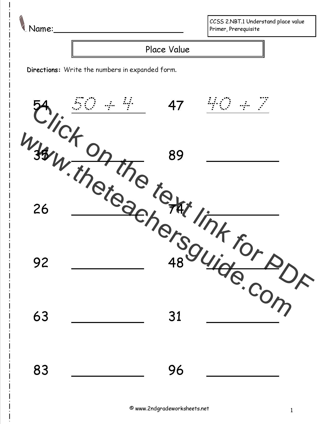 Expanded form Worksheets 3rd Grade Expanded form Lessons Tes Teach