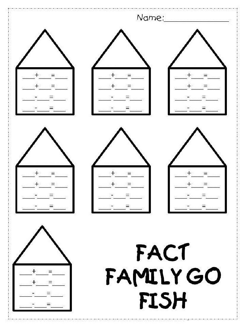 Fact Family Worksheets 1st Grade Fact Family Worksheets 1st Grade for Easy Math