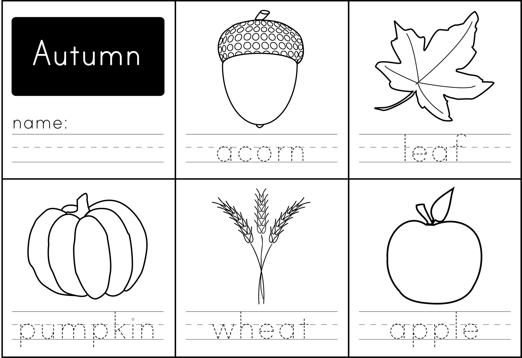Fall Worksheets for Preschool 39 Fall Printables for Preschool Image Ideas – Slavyanka