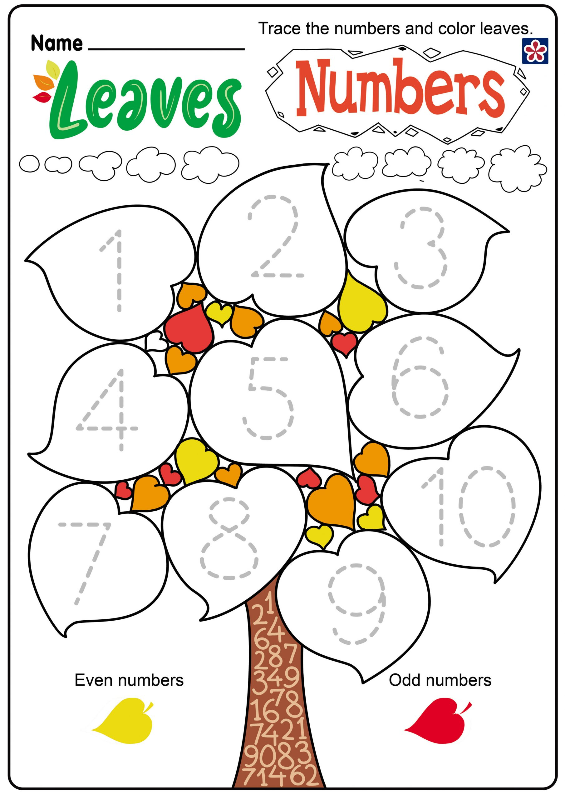 Fall Worksheets for Preschool Free Fall Leaves Worksheets for Preschool and Kindergarten