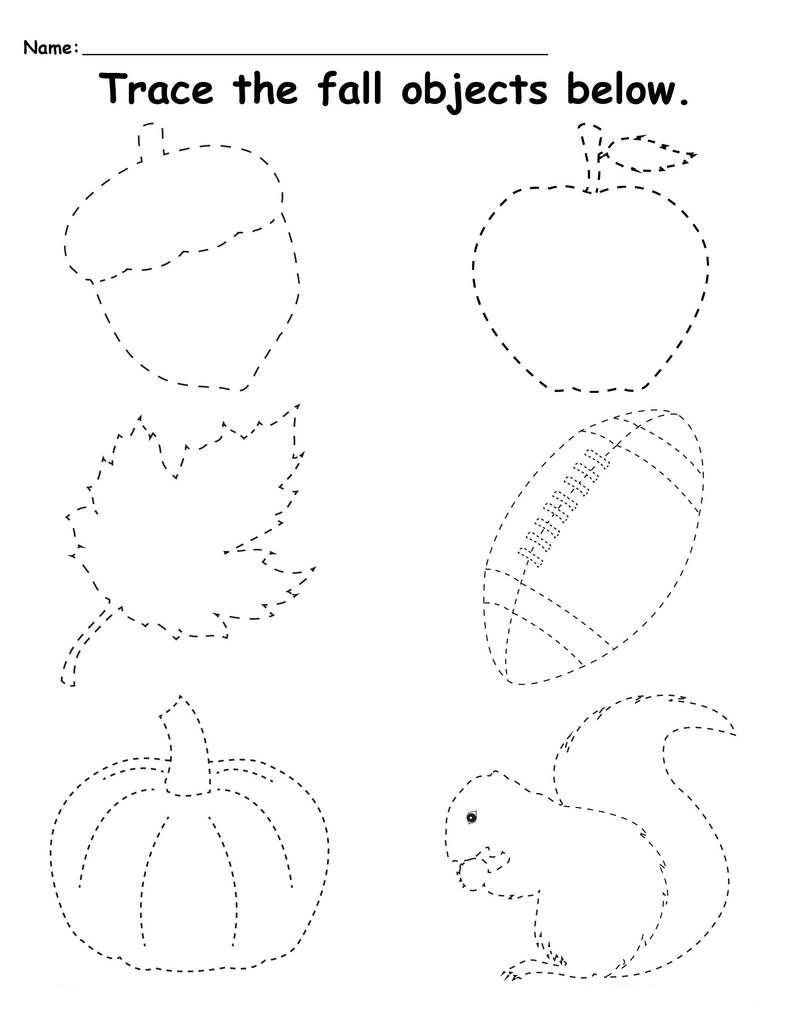 Fall Worksheets for Preschool Preschool Tracing Worksheets Best Coloring Pages for Kids