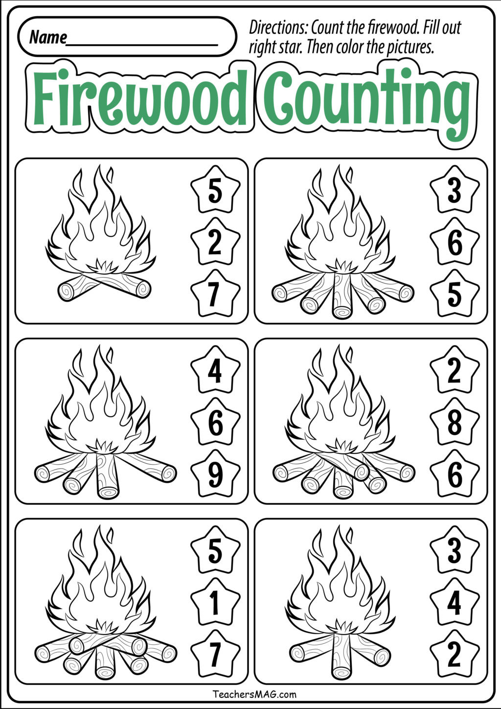 Fall Worksheets for Preschool Worksheet Preschool Fall Math Worksheets Teachersmag