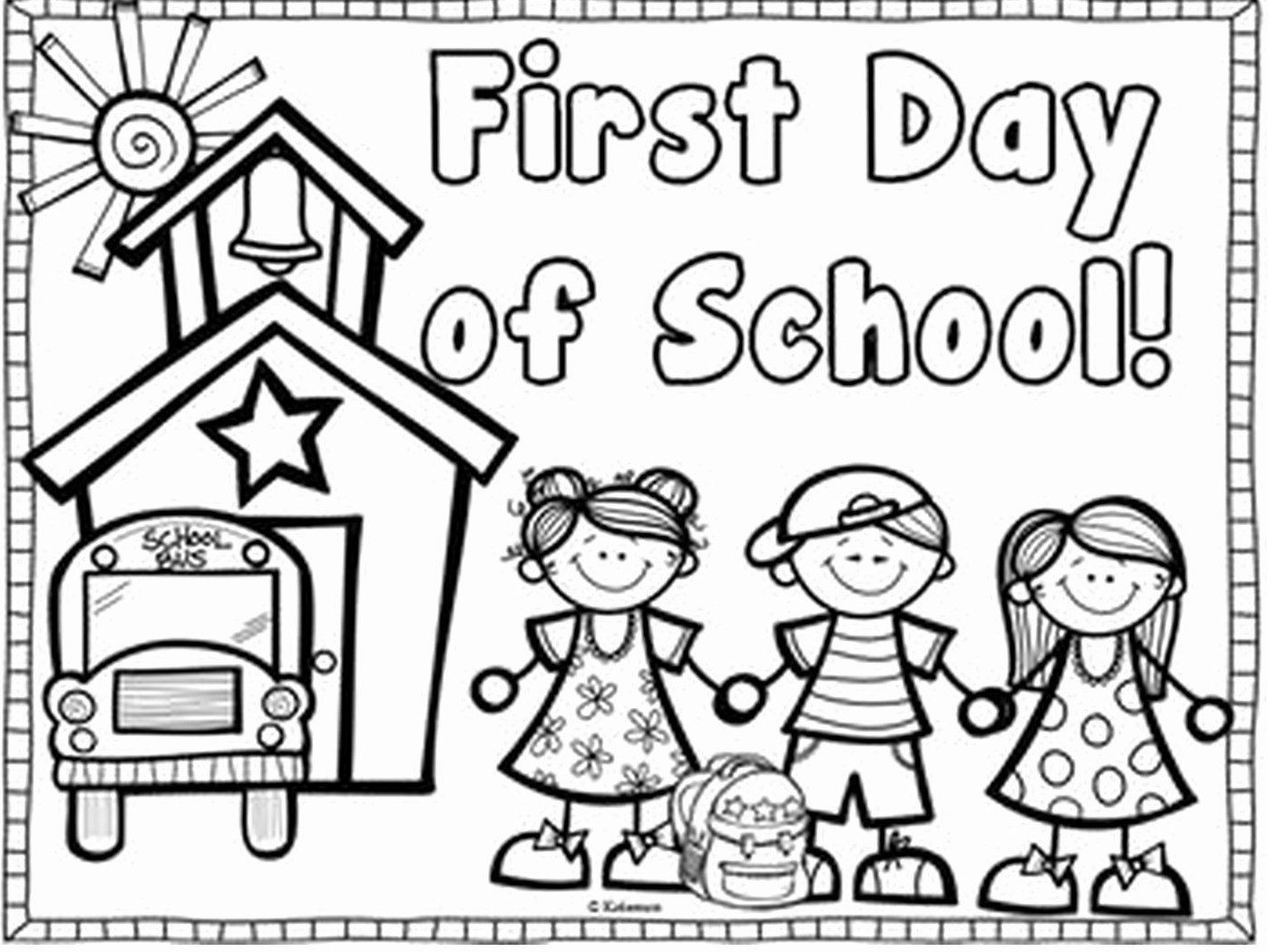 First Day Of School Worksheet 60 First Day School Coloring Inspirations – Slavyanka