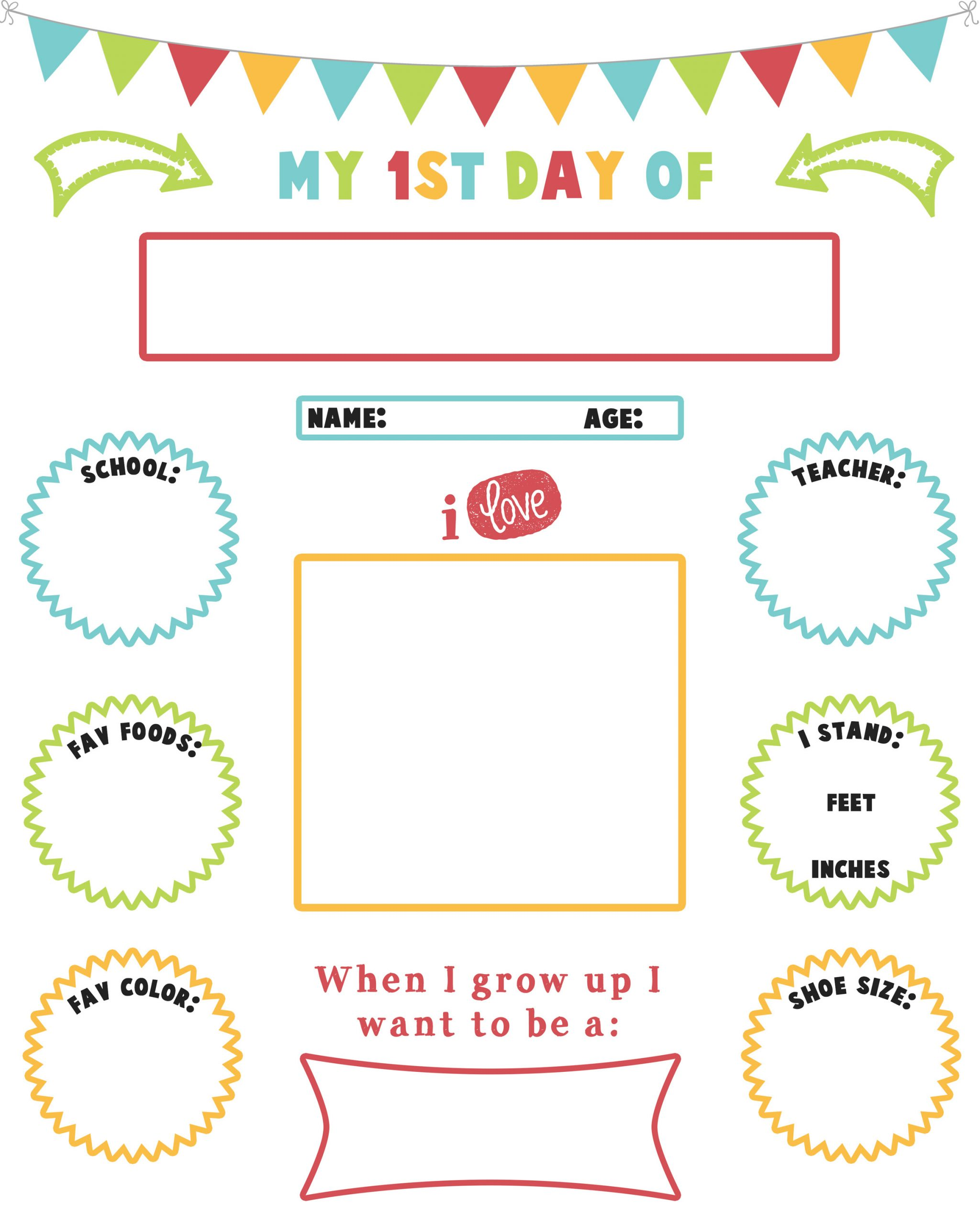 First Day Of School Worksheet Back to School Printable Sign Mishmash by ash Graphic Design