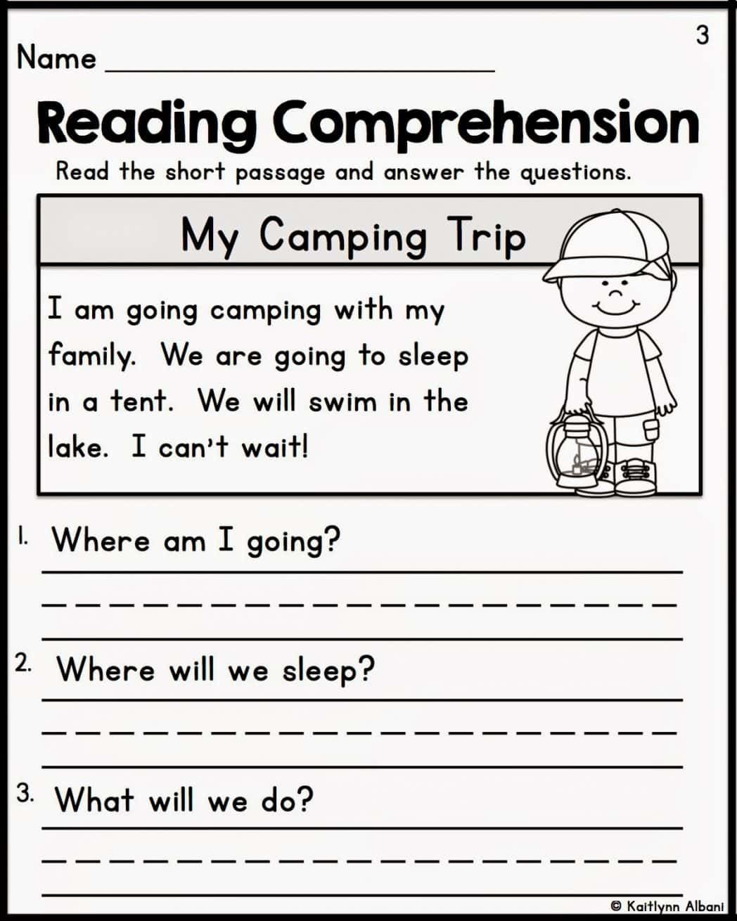First Grade Comprehension Worksheets Prehension Worksheets for Grade 1 Free