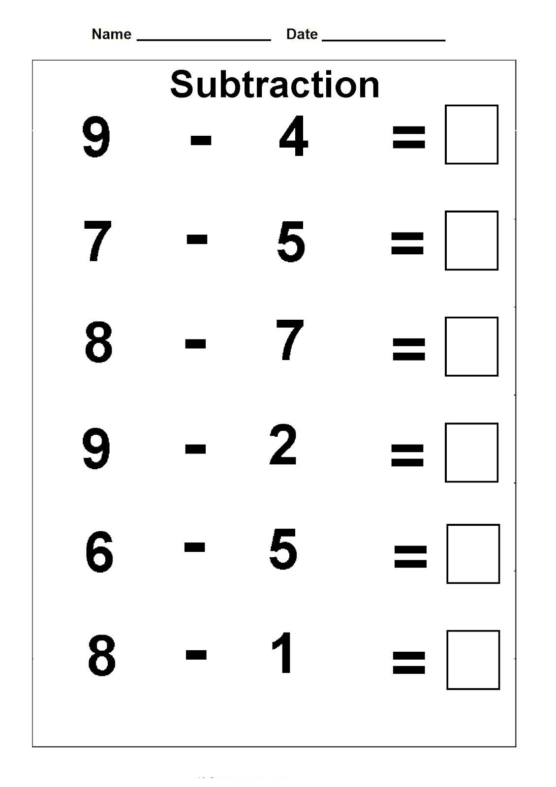 First Grade Subtraction Worksheets Math Worksheet Math Worksheet Sheets for First Grade