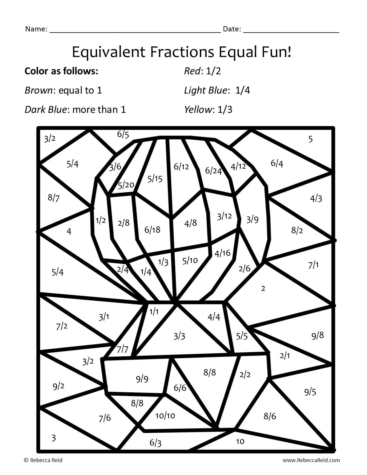 Fraction Coloring Worksheets 5th Grade Newsletter and Math Freebie