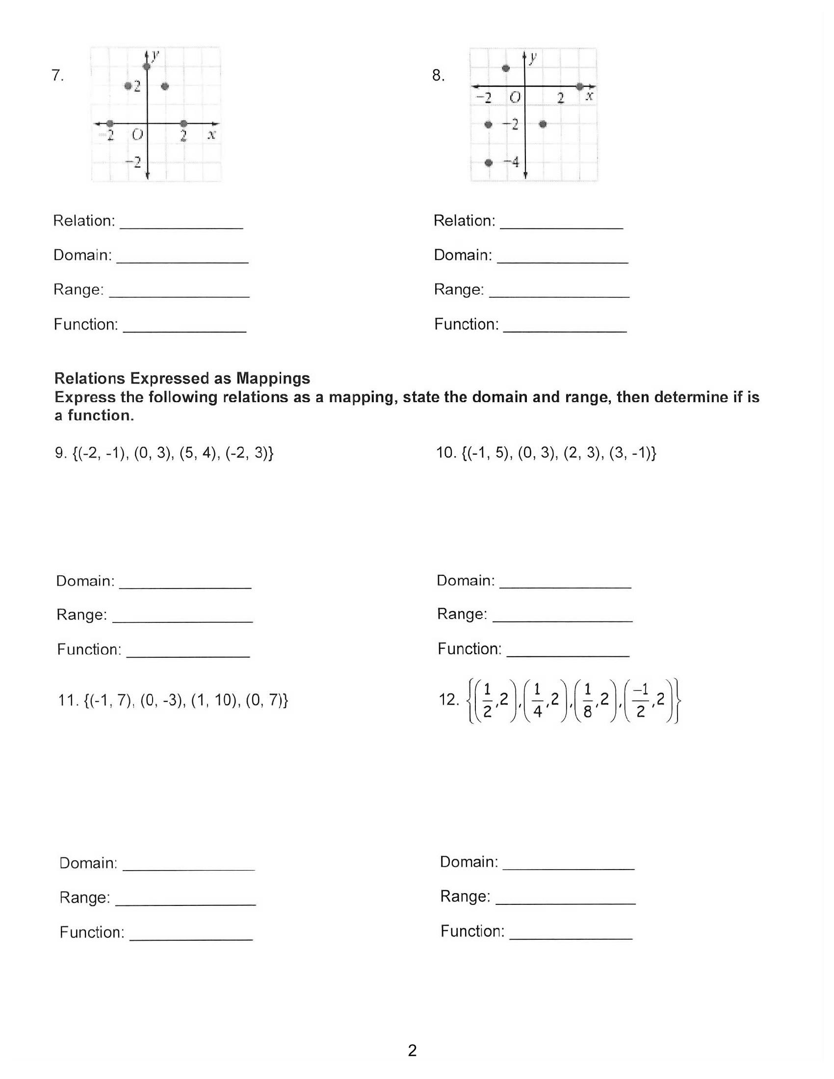 Frequency Table Worksheet 6th Grade Two Way Frequency Table Worksheet