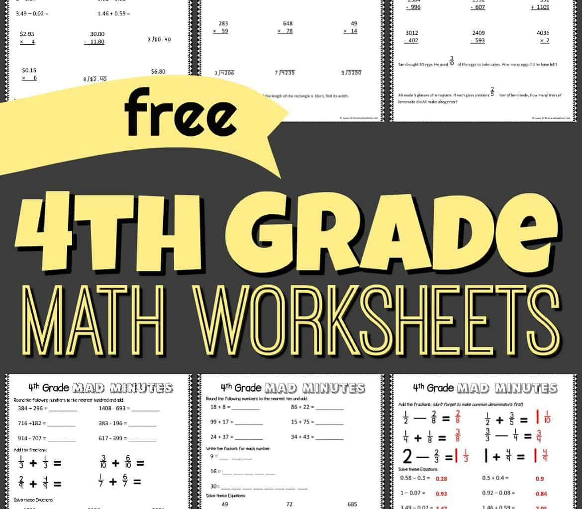Go Math Grade 4 Worksheets Free 4th Grade Math Worksheets