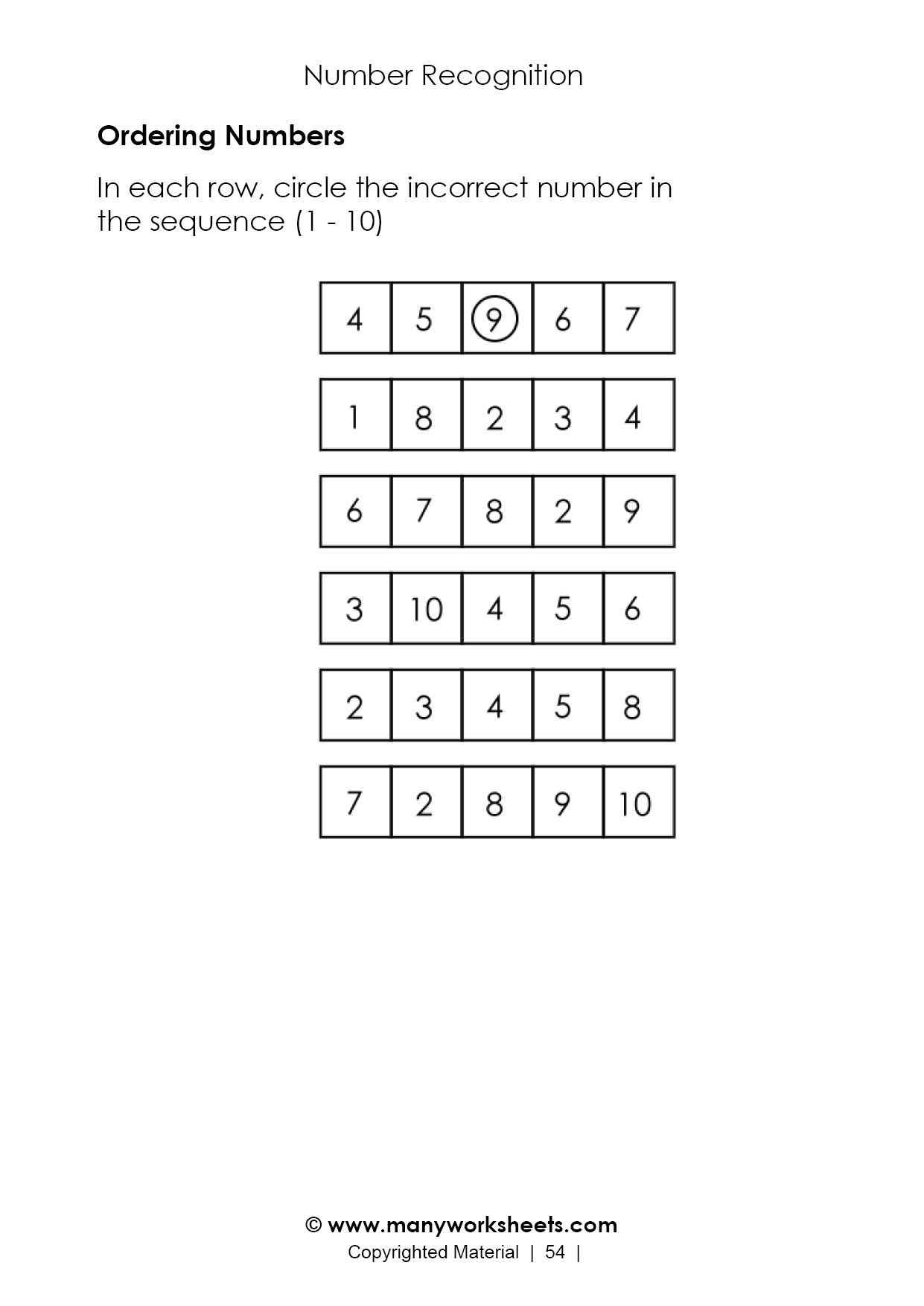 Go Math Grade 4 Worksheets ordering Numbers to In order Worksheet Worksheets Go Math