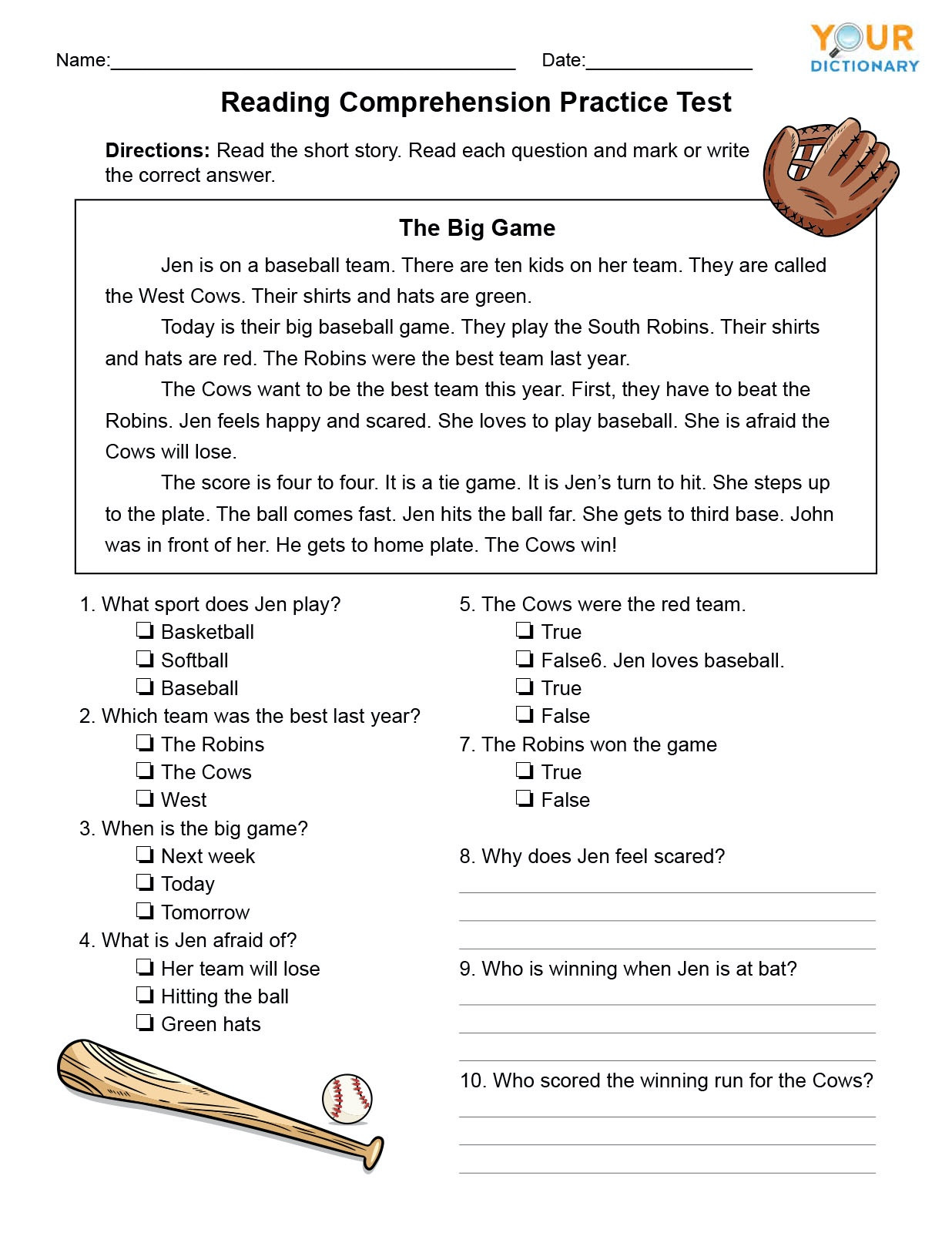 Grade 2 Reading Comprehension Worksheets 1st Grade Reading Prehension Tests Worksheets Basic Life