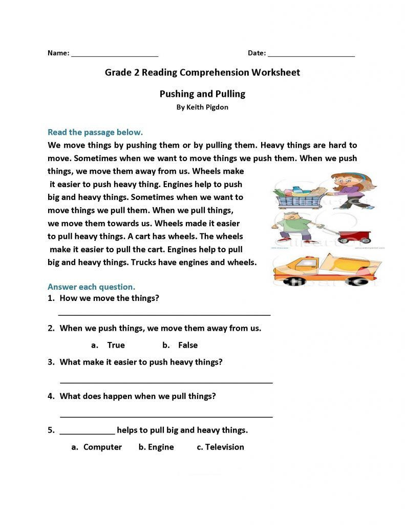 Grade 2 Reading Comprehension Worksheets 2nd Grade Reading Worksheets