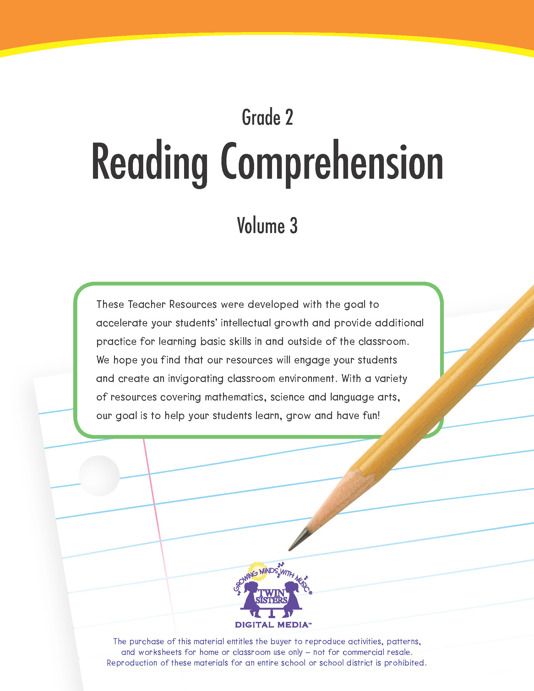 Grade 2 Reading Comprehension Worksheets Grade 2 Reading Prehension Volume 3