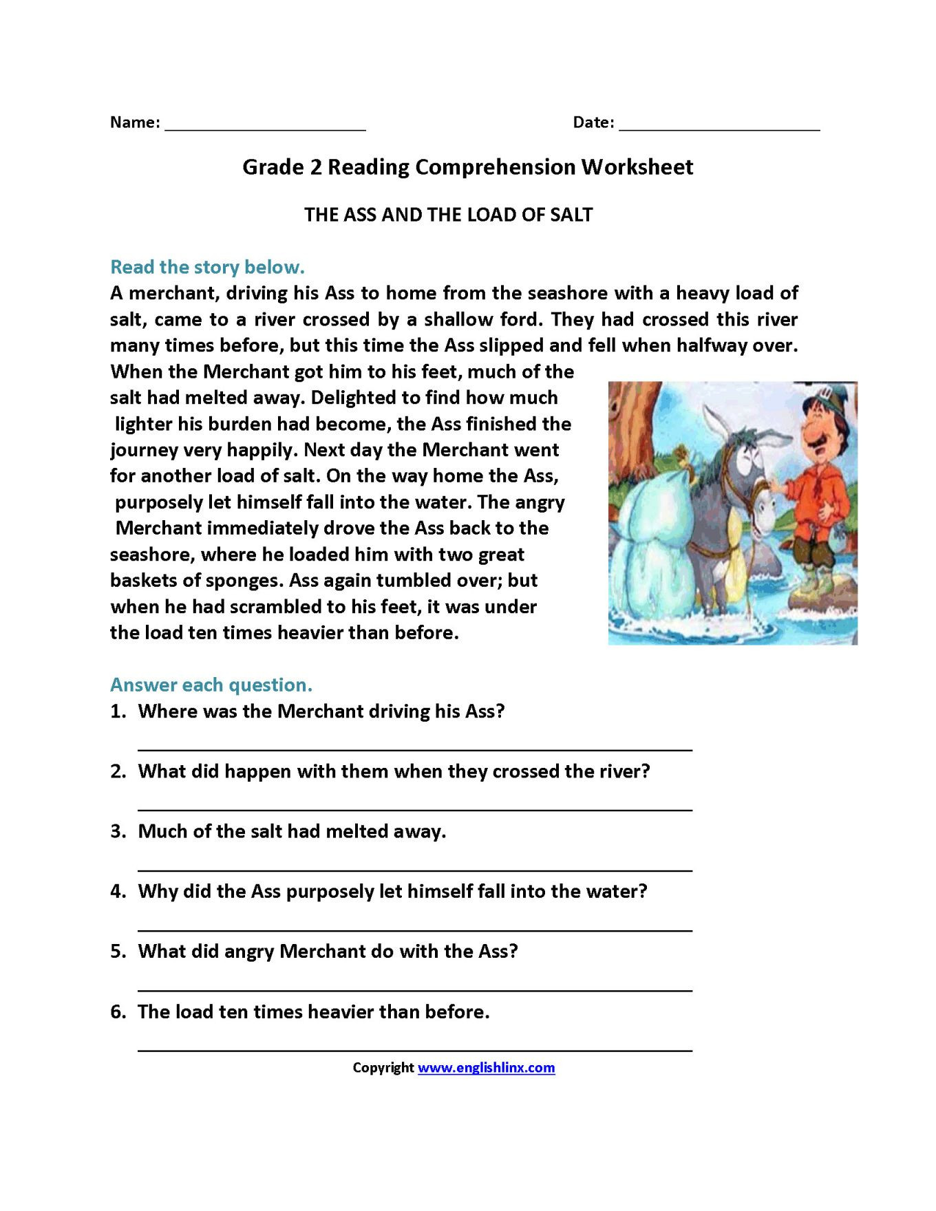Grade 2 Reading Comprehension Worksheets Pin by Sapna On Prehension Grade 2