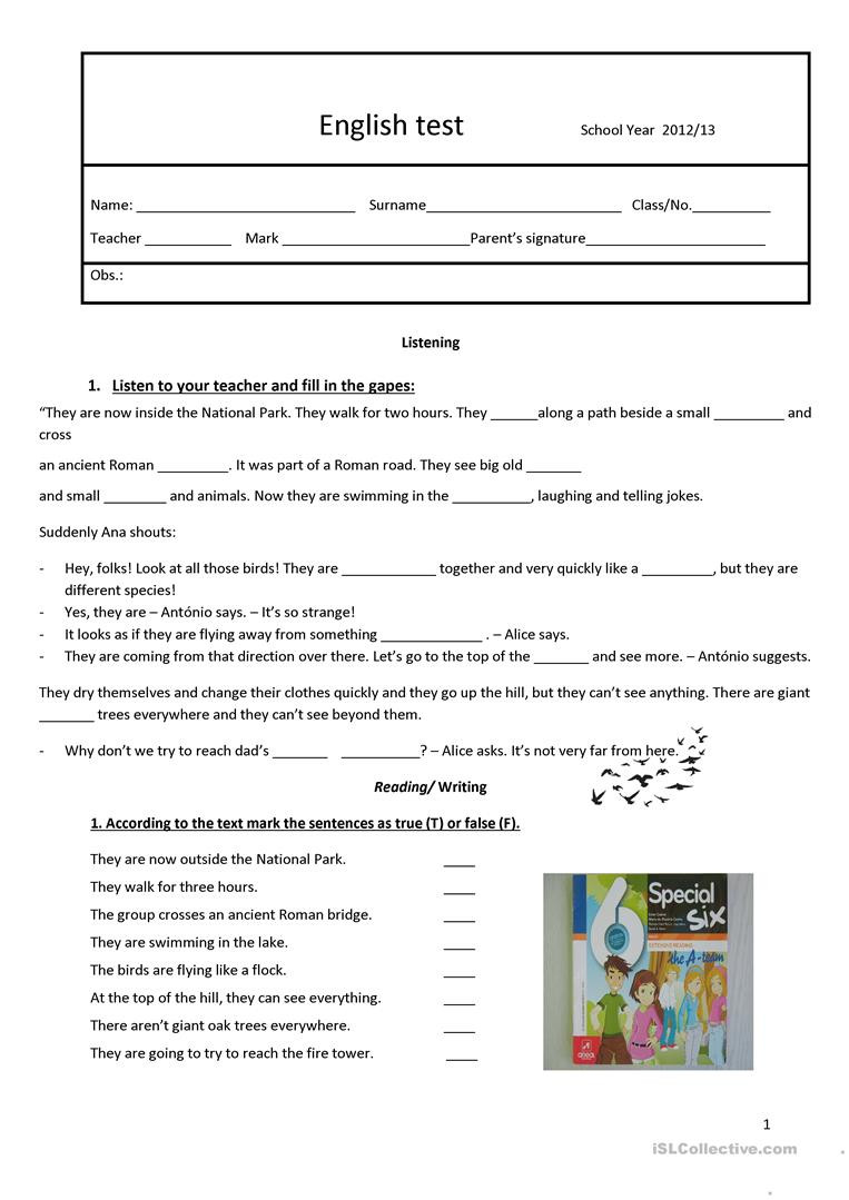 Grammar Worksheet 6th Grade Test 6th Grade English Esl Worksheets for Distance
