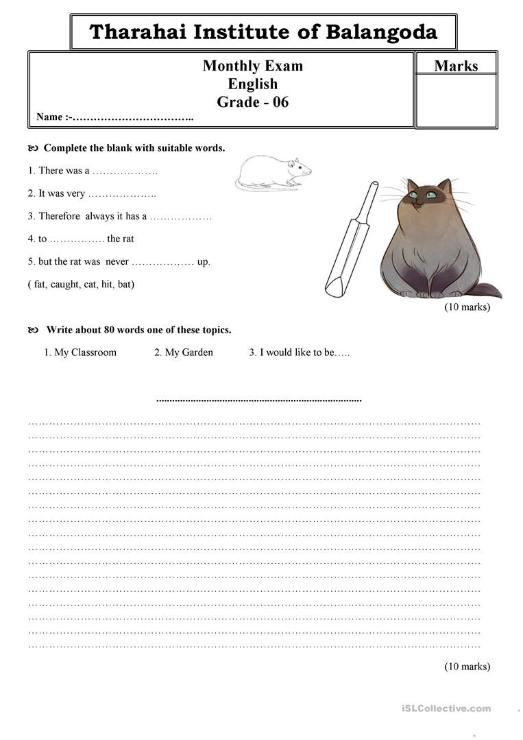 Grammar Worksheets for Grade 6 Grade 6 English Paper English Esl Worksheets for Distance