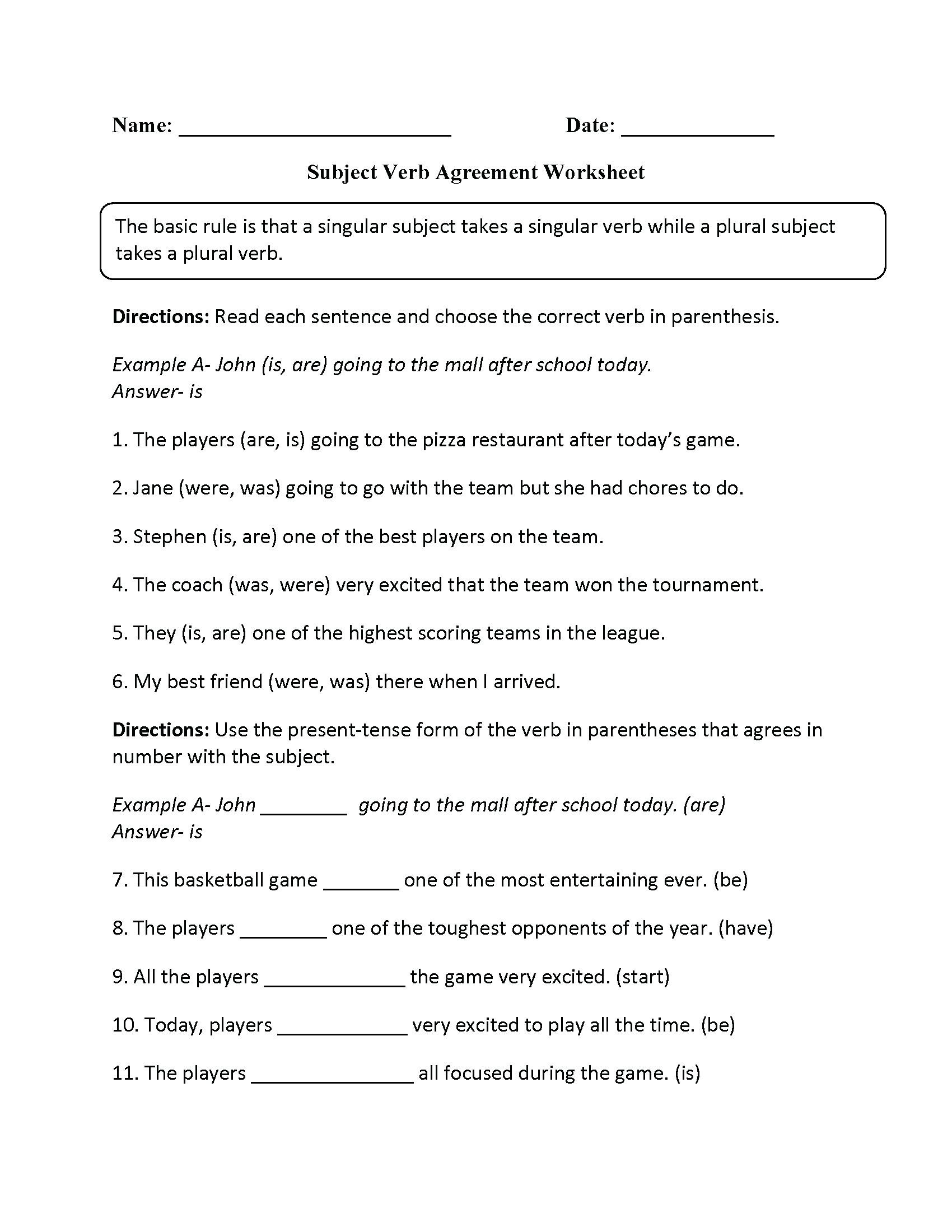 Grammar Worksheets for Grade 6 Monthly Archives June 2020 English Reading Prehension