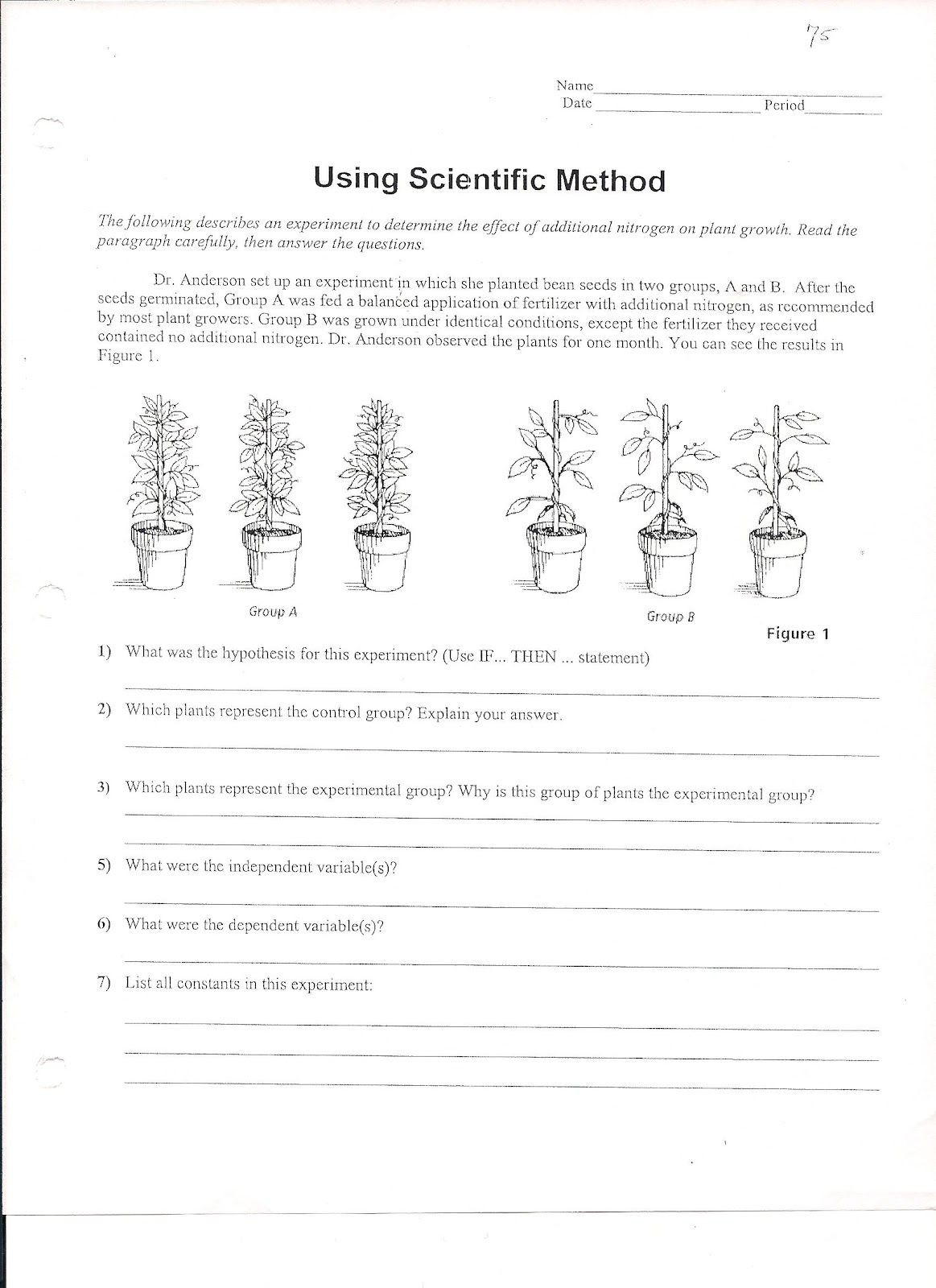 Graphing Worksheets High School Science Using Scientific Method Worksheet 1 163—1 600 Pixels