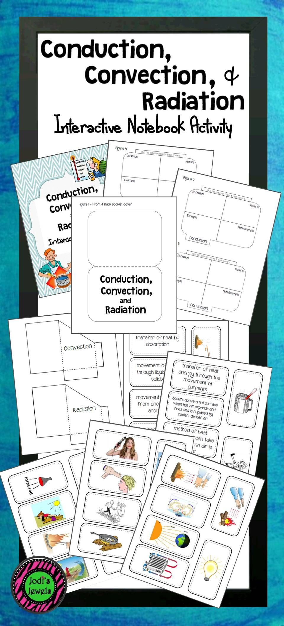 Heat Transfer Worksheet Middle School Conduction Convection & Radiation Interactive Notebook
