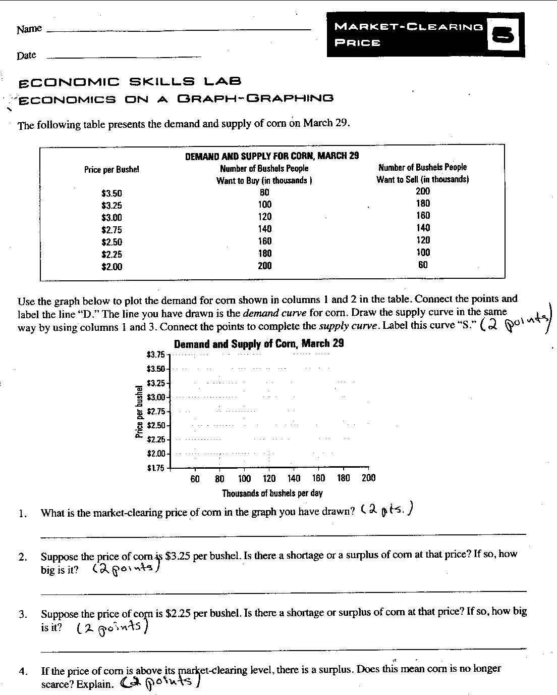High School Economics Worksheets Printable Economics Worksheet High School Worksheets for