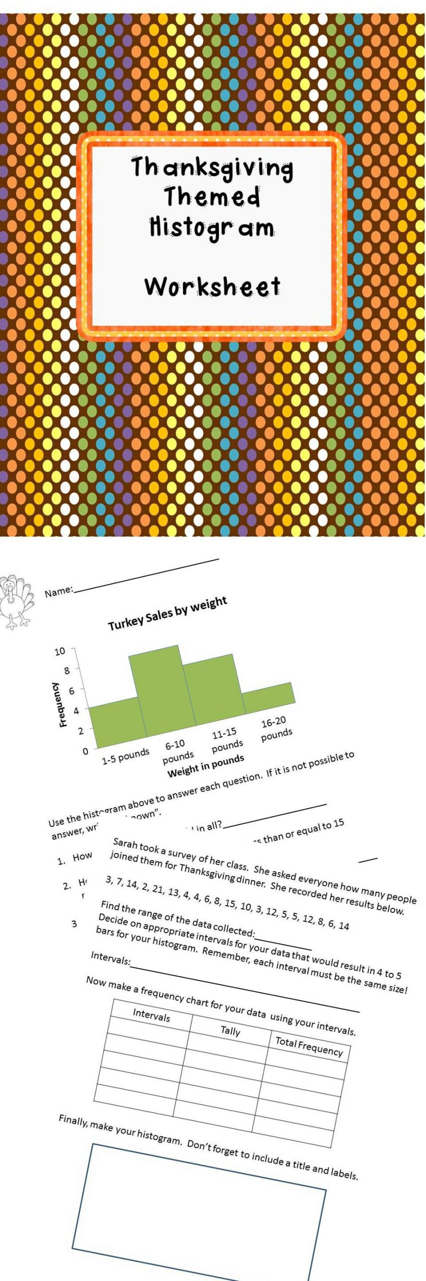 Histogram 6th Grade Worksheet Histogram Worksheet 6 Sp B 4