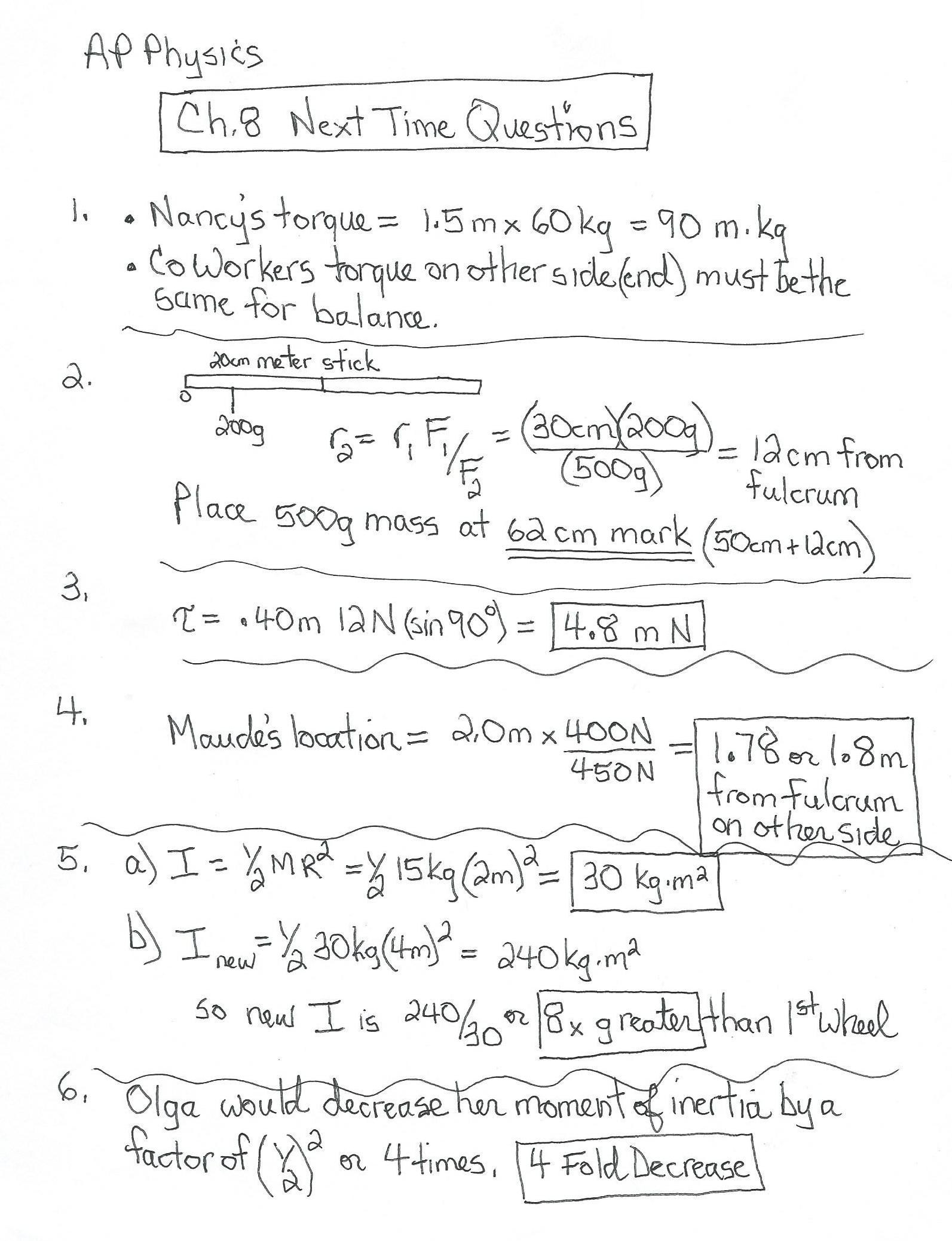Inertia Worksheet Middle School Math Answers and Working Out Renaissance Worksheets for