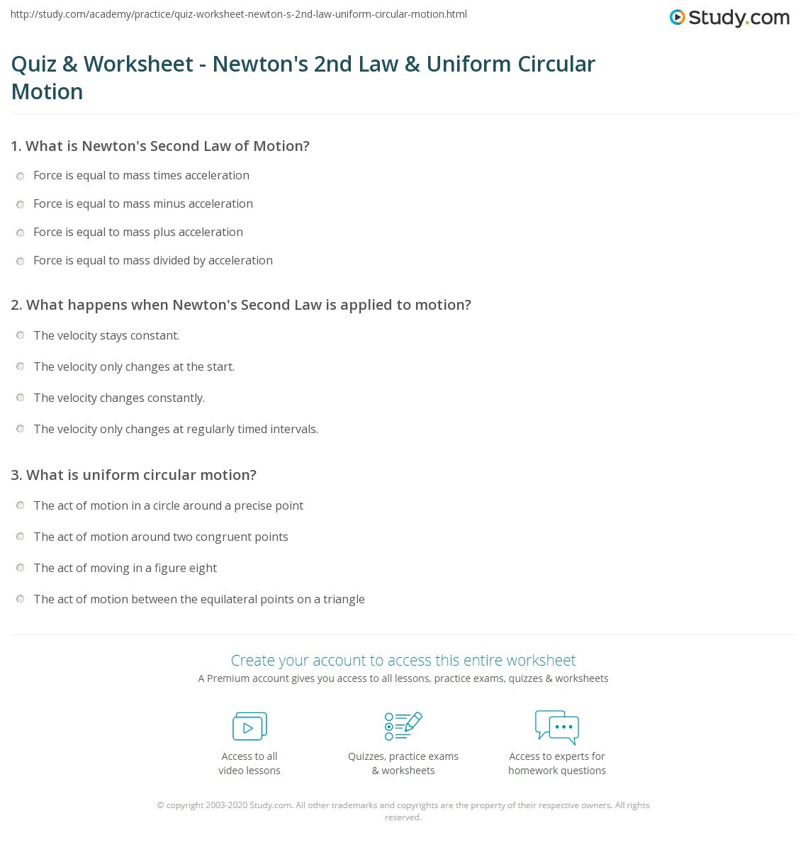 Inertia Worksheet Middle School Newtons Laws Motion Worksheet