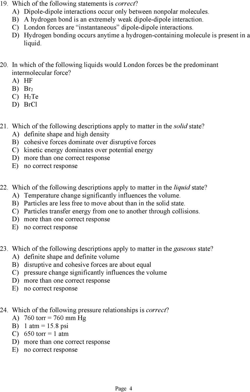 Intermolecular forces Worksheet High School Chem 120 Line Chapter 7 Pdf Free Download