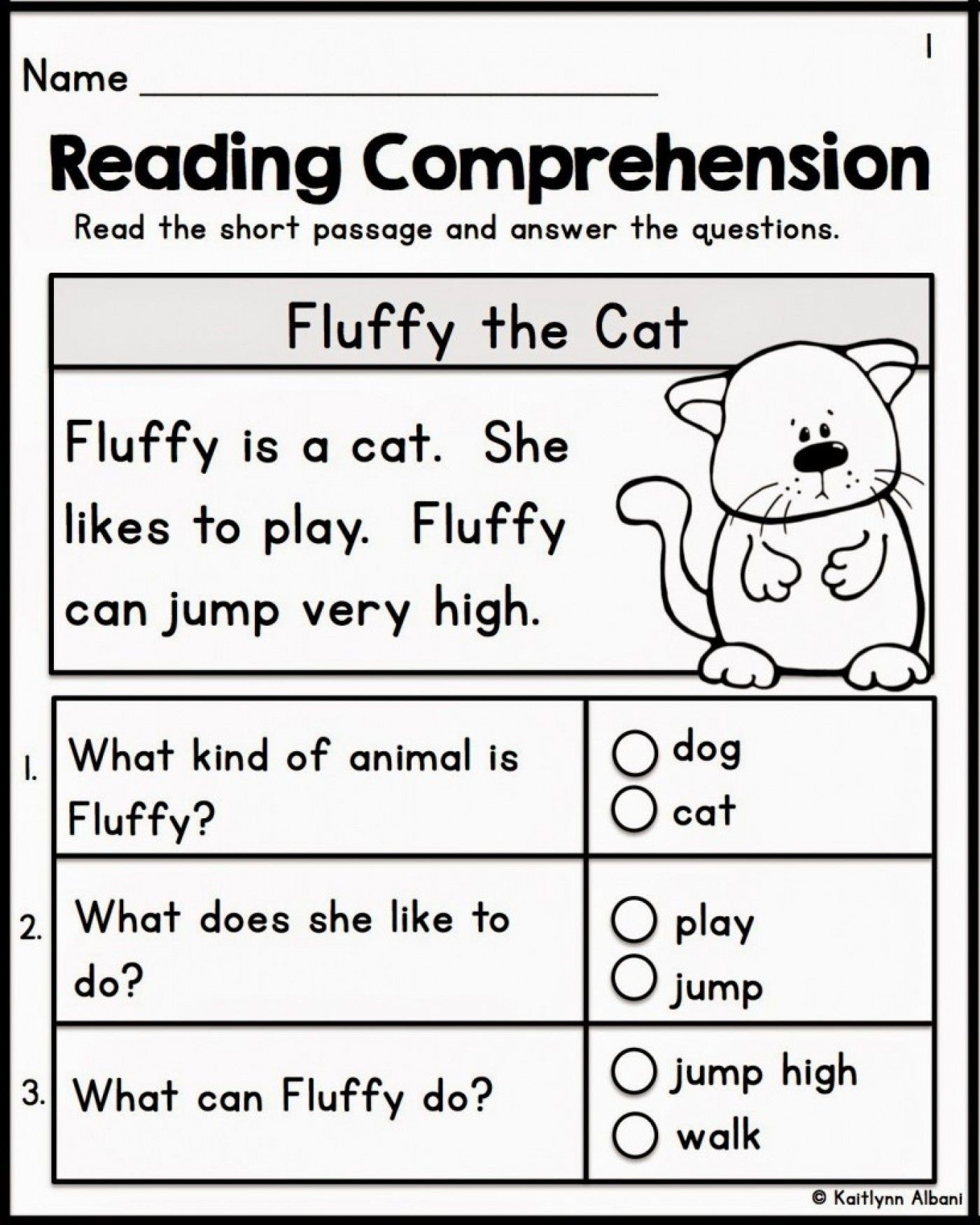 Kindergarten Reading Worksheets Free 12 Best Free Printable Reading Prehension Worksheets