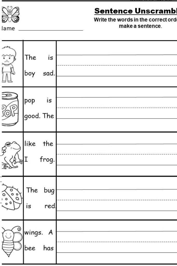 Kindergarten Writing Sentences Worksheets Free Kindergarten Writing Printable