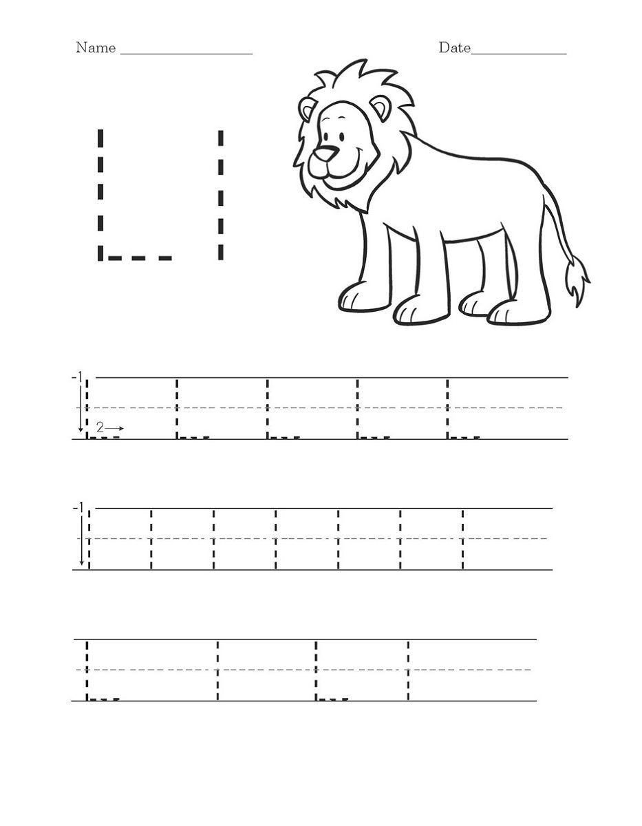 Letter L Worksheets for Preschool Activity Worksheets to Print