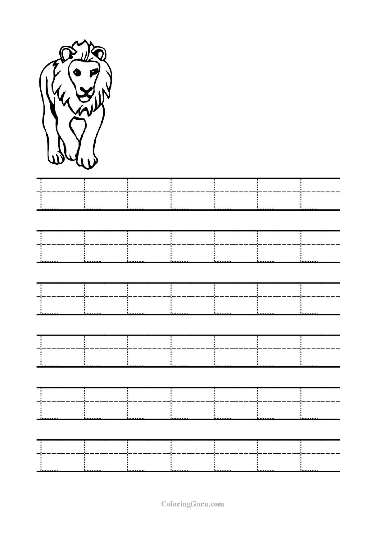 Letter L Worksheets for Preschool Free Printable Tracing Letter L Worksheets for Preschool