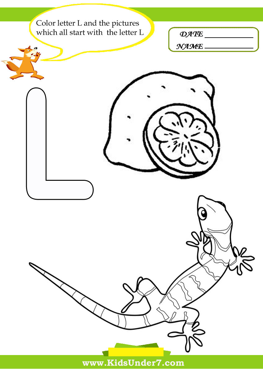 Letter L Worksheets for Preschool Kids Under 7 Letter L Worksheets and Coloring Pages