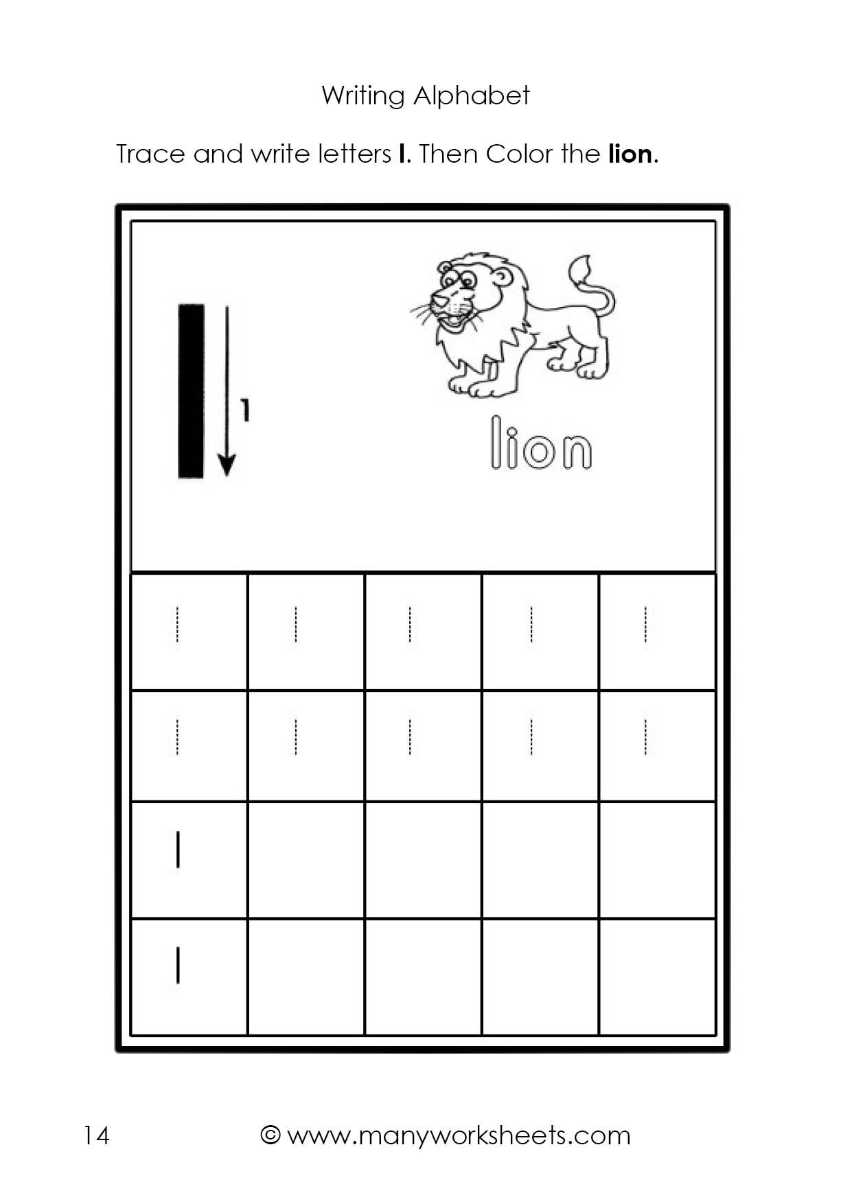 Letter L Worksheets for Preschool Tracing and Writing the Letters L