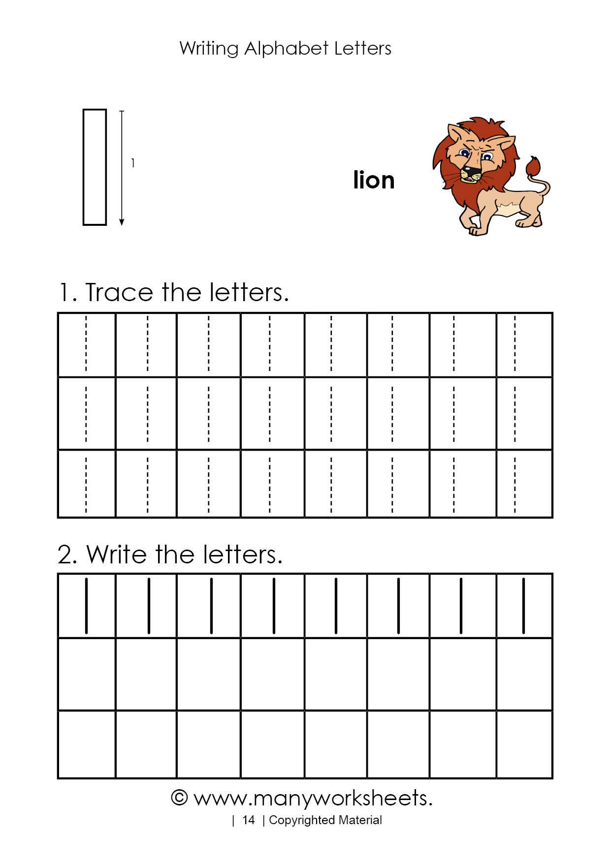 Letter L Worksheets for Preschool Tracing Letter L Worksheet for Kindergarten